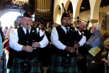 bagpipes procession